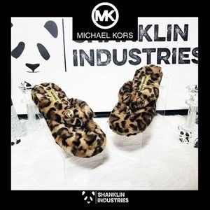 Michael Kors Faux Fur Flip Flops Super Adorable!